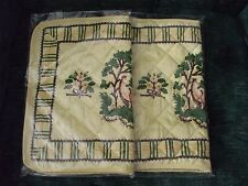 2 place mats/hot pads by Williamson Inc yellow background quilted