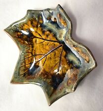Studio Pottery Ceramic Leaf Spoon Rest Thimbleberry