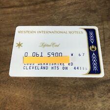 Vintage Credit Card 1960's Western International Hotels Lifetime Card Signed