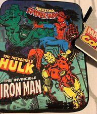 Marvel Hulk Spiderman Iron Man IPad Mini Tablet Case Cover Bnwt
