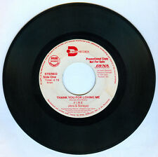 Philippines FIRE (Ana & Soraya) Thank You For Loving Me OPM 45 rpm PROMO Record