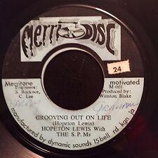 "Hopeton Lewis - Grooving Out On Life / M Squad Dub - 7"" 45t 70's Reggae VG+ MP3"
