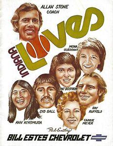 1976 Indiana Loves vs. Phoenix Racquets World Team Tennis Program-  WTT #FWIL