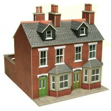 Brick terraced houses - OO/HO Card kit – Metcalfe PO261 - Free Post