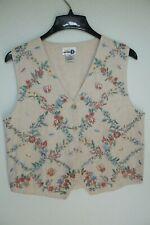 Ladies Paul Harris Vest Embroidered Size M Cotton Paul Harris Design