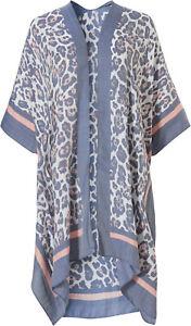 Pastunette Beach ~ Ladies Luxury Kaftan Beach Poncho Cover Up - Animal Print