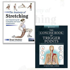 Concise Book of Trigger Points and Anatomy of Stretching 2 Books Collection Set