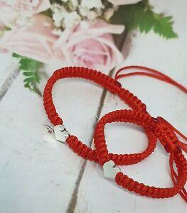 Handmade Bracelet Red Nylon Cord Friendship,Baby Red Nylon Cord Family Bracelet