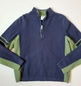 Boys Hanna Andersson 1/4 Zip Sweater size 160 (14/16) blue