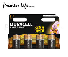 Duracell MN1400 Plus Power C Size LR14 Batteries--Pack of 4