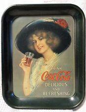 Coca Cola Collectible of 1913 Hamilton King Girl Heavy Metal Serving Tray 1972