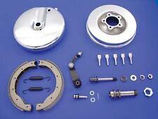 Replica Harley Davidson 1949-1966 Front Brake Backing Plate Kit Left Side Chrome