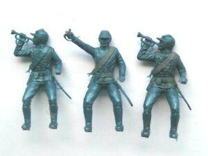 3 x MPC. 1970's  ACW UNION CAVALRY PLASTIC SOLDIERS. 1/32 SCALE.