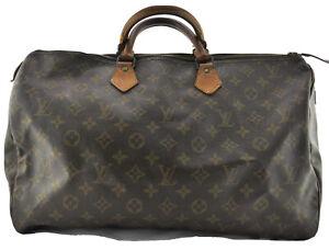 LOUIS VUITTON Speedy 40 Monogram Boston Hand Bag Purse Satchel Travel Bag Large