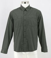 Mountain Hardwear Button Front Shirt Size Small Green Striped Long Sleeve Mens