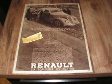 Publicité ancienne  Renault Vivastella Nervastella années 30