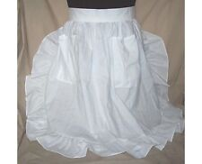 Ruffled Skirt Half Apron M/L WHITE or gingham Checks handcrafted