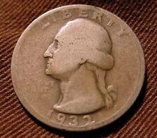 1932 S Washington Quarter 25¢ Very Good Key Date Rare Date In Series!