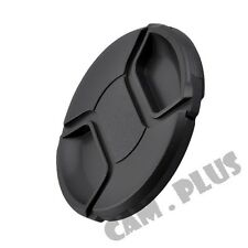2x 72mm 72 mm Snap-on Center Pinch Front Lens Cap For Canon Nikon Pentax Olympus
