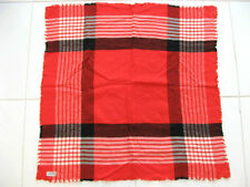 MACY ASSOCIATES SCARF YARN DYED SPUN RAYON MADE IN JAPAN 1960's RED CHECKERED