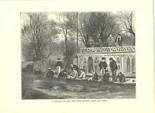 1871 Engravings Sketch On Isis Oxford Crew At Home H Woods