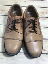 Hush Puppies Mens Size 12 EW Wide LONDON Tan Suede Oxfords Lace Up Comfort Wear