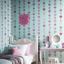 Arthouse Tiffany Stripe Duck Egg Glitter Crystal Wallpaper 667900