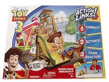 Toy Story 3 Action Links Sunnyside Breakout Stunt Set + Woody & Big Baby Figures