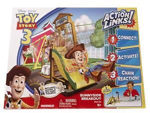 Toy Story 3 Action Links Sunnyside Breakout Stunt Set + Woody & Big Baby Figures