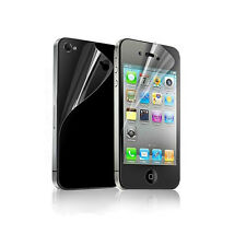 Front Back Clear Crystal Screen Protector Guard Shield For Apple iPhone 4S 4 4G