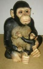 Mother and Baby Monkey Statue