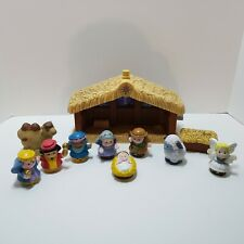 Fisher Price Little People Nativity Set w/ 9 Figures Tested and Works