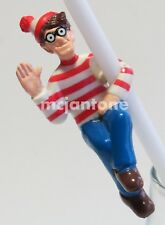 LOOSE Hardees 1991 Where's WALDO DRINK STRAW BUDDY Buddies Drinking Hugger  Toy
