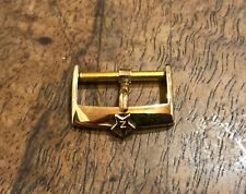 Zenith Fibbia Buckle Gold Plaque Orologio Zenith Vintage 18mm NOS El Primero