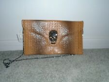 Clutch Handbag With Studded Skull New With Tags