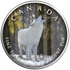 Trails of Wildlife 2021 Polarwolf Wildtierpfade Maple Leaf 1 OZ Silber Silver