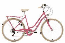 """Vélo de Ville Rétro Femme 28"""" 6 Vitesses Casino Rose TC 54 cm KS Cycling 707C"""