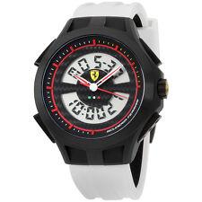 Scuderia Ferrari Gents SF102 'Lap Time' White and Black Digital Watch 0830020