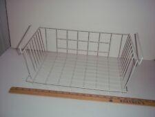 Basket Bin Under Shelf Storage Kitchen Organizer Rack Wire Wrap White Cabinet