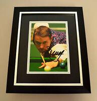 Stephen Hendry Signed 10x8 Photo Framed Autograph Display Snooker Memorabilia