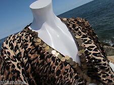 NEW L REEM Acra top jacket leopard ocelot asymmetrical sweater sexy cat cruise