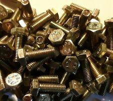 M4-0.7 x 12mm, Hex cap screw, bolt, DIN933, CLASS 8.8, YELLOW ZINC, SELECT QTY
