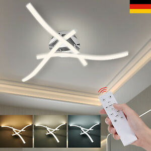 LED Design Deckenlampe Schwenkbar weiß Deckenleuchte 24W Dimmbar Flur Wohnzimmer