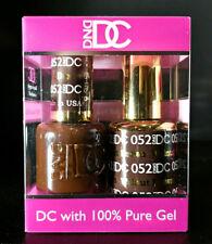 DND DC Soak Off Gel Polish Walnut Brown 052 LED/UV 6oz 18ml Gel Duo Set NEW
