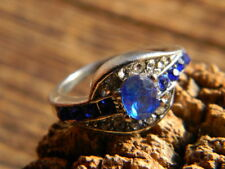 blue Sapphire ring size 7 Closeout ladies gold filled faceted