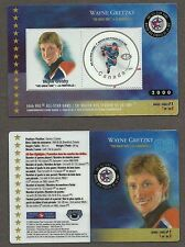 2000 Canada Post Wayne Gretzky 50th All-Star Game Laminated Stamp Card