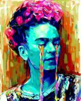 """Frida Kahlo's PICTURE CANVAS WALL ART 24""""X18"""""""