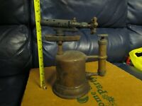 Vintage Antique Turner Brass Soder Torch Gas Blow Torch (3)