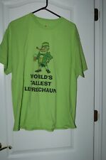 Irish Leprechaun tallest t shirt green Hanes x large Ireland St patrick