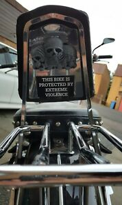 Motorcycle Security Funny Stickers Decals